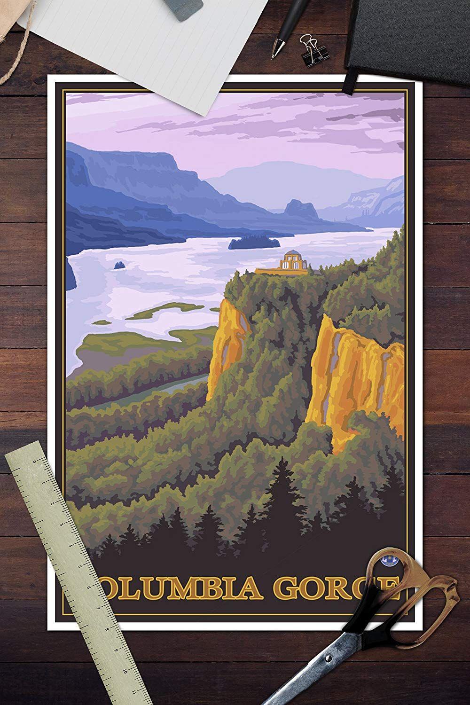 Columbia oregon and washington 12x18