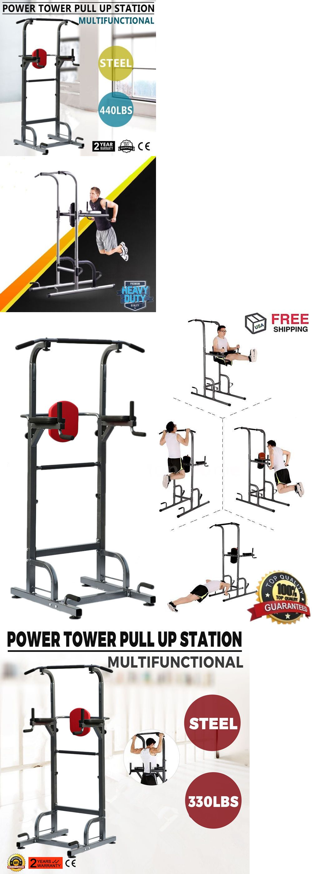 Home Gyms 158923: Dip Station Power Tower Pull Push Chin Up Bar Home Gym  Core