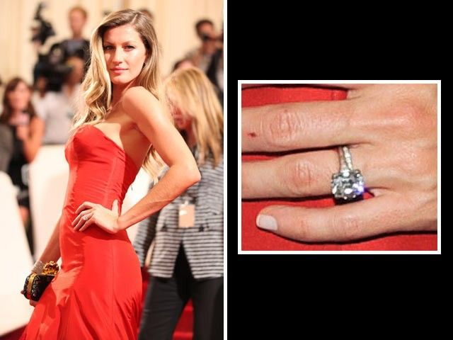 Gisele Bündchen Tom Brady Proposed With A Brilliant Cut Solitaire Diamond Estimated To Be Four
