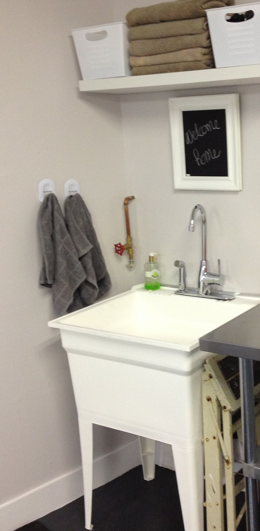 laundry sink in mustee p utility garage sinks floor plastic mount the white x tub