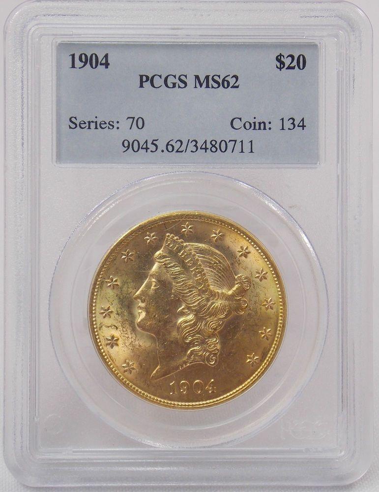 1904 Liberty Head Double Eagle $20 Twenty Dollar Gold Coin