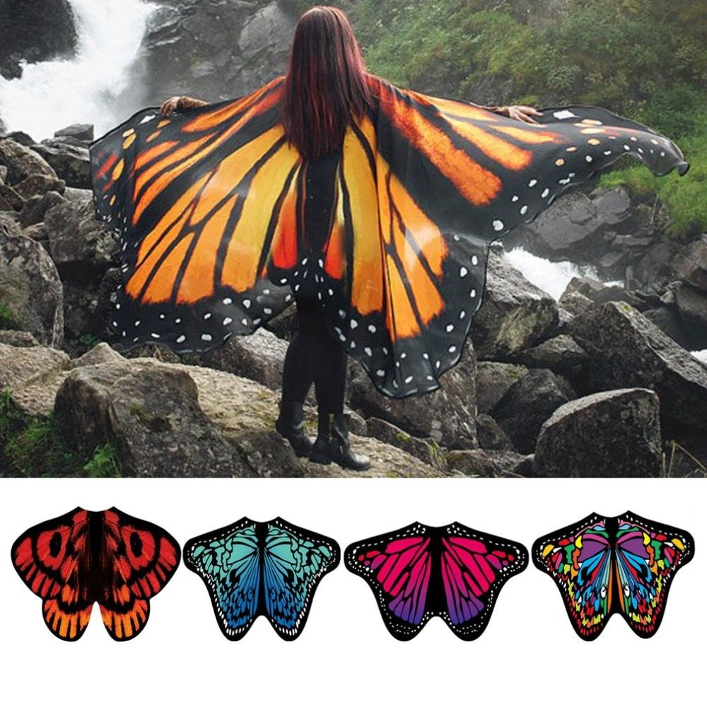 2af274185fd41 Women Beach Scarf Pashmina Butterfly Wing Shawl Wrap in 2019 ...