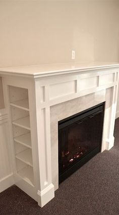 Building A Custom Electric Fireplace Surround Stuff I Want To