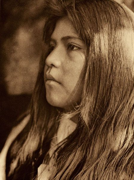 """Coast Pomo Girl"" Photo by Edward Sheriff Curtis (1868-1952)"