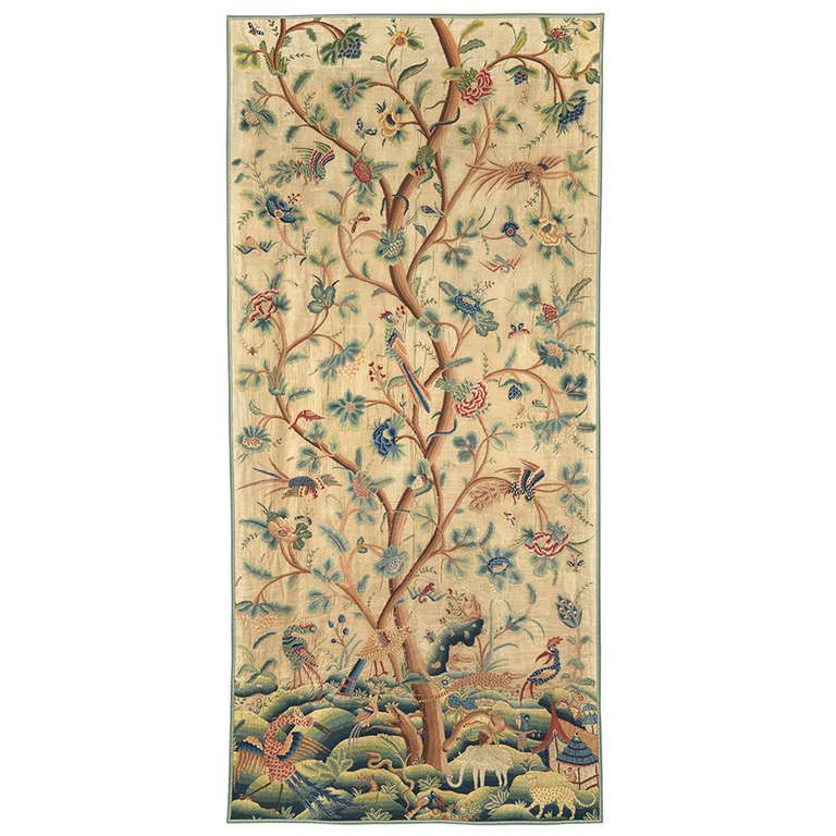 Crewelwork Panel | From a unique collection of antique and modern decorative art at http://www.1stdibs.com/furniture/wall-decorations/decorative-art/