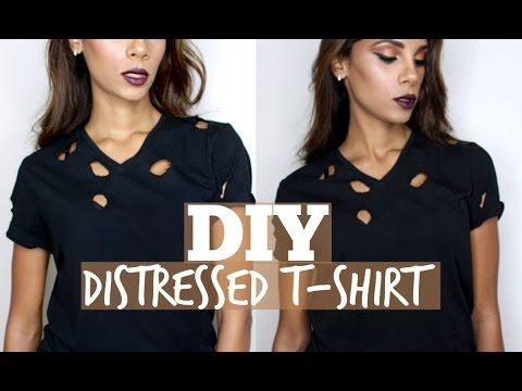 5eaa3df673ee DIY Distressed Holes T-Shirt | Kylie Jenner Inspired - YouTube ...