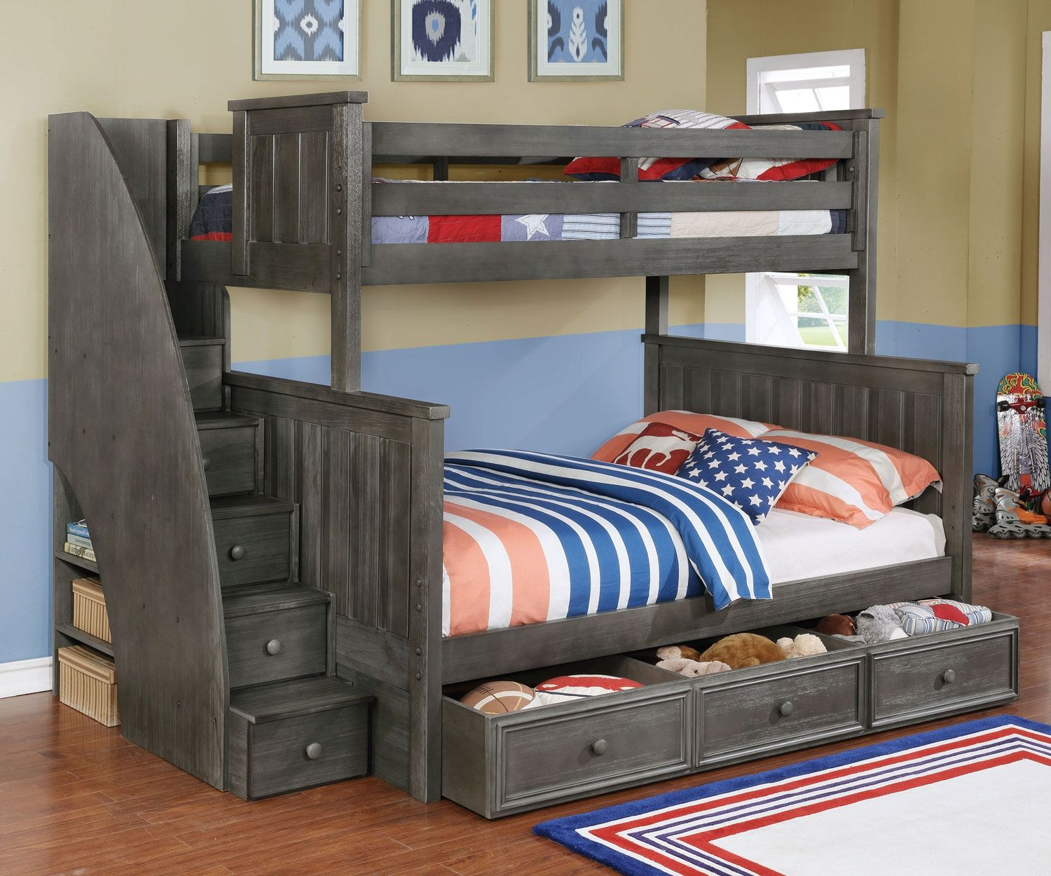 Two twin loft bed  Bunk Beds Twin Over Twin with Stairs  Lowes Paint Colors Interior