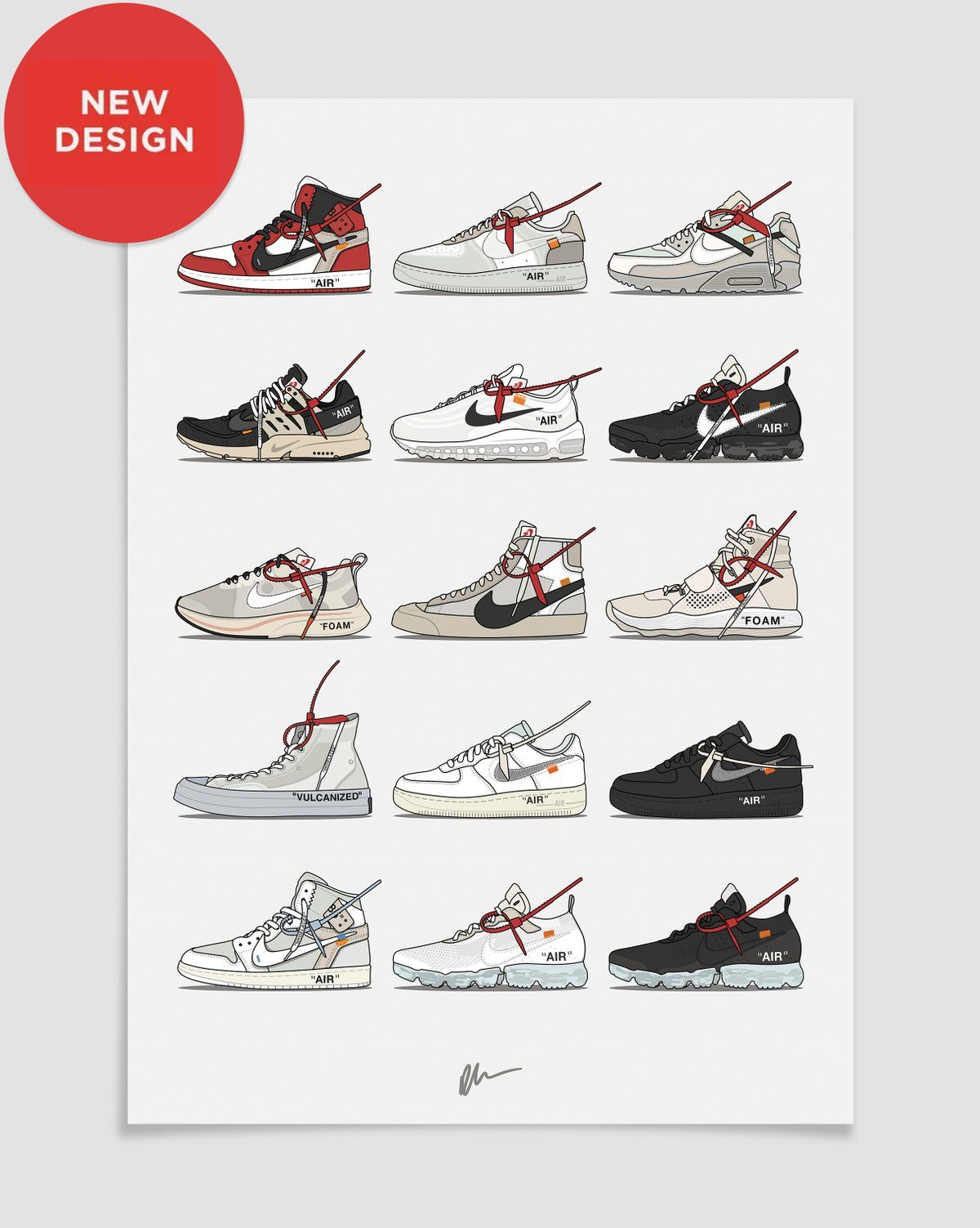 Image Of New Nike X Off White Collection Shoe Wall Art