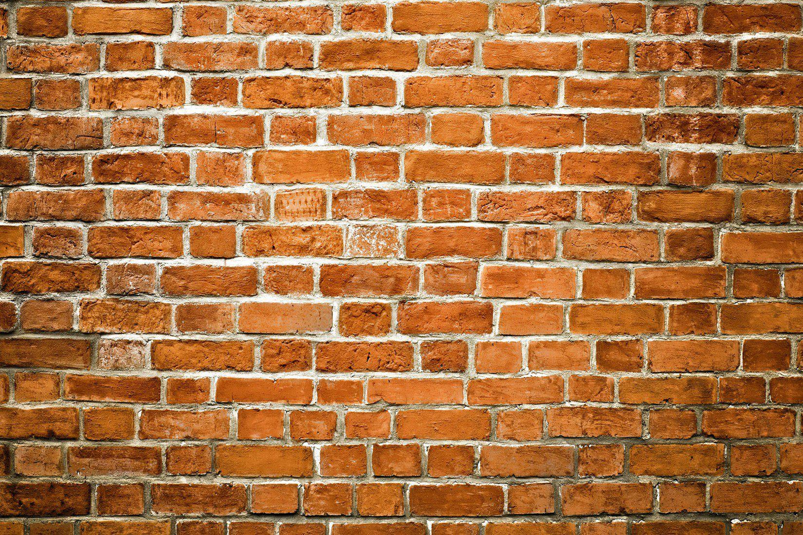 Orange Brick Wallpaper Feature Brick Wall Design