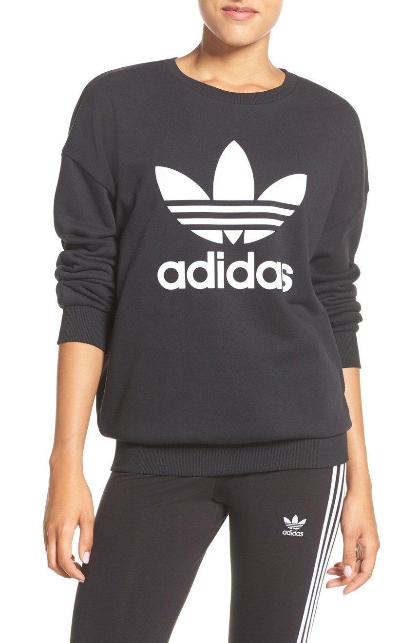 Adidas Originals Trefoil Crewneck Sweatshirt Nordstrom Sweatshirts Crew Neck Sweatshirt Activewear Brands [ 1318 x 860 Pixel ]