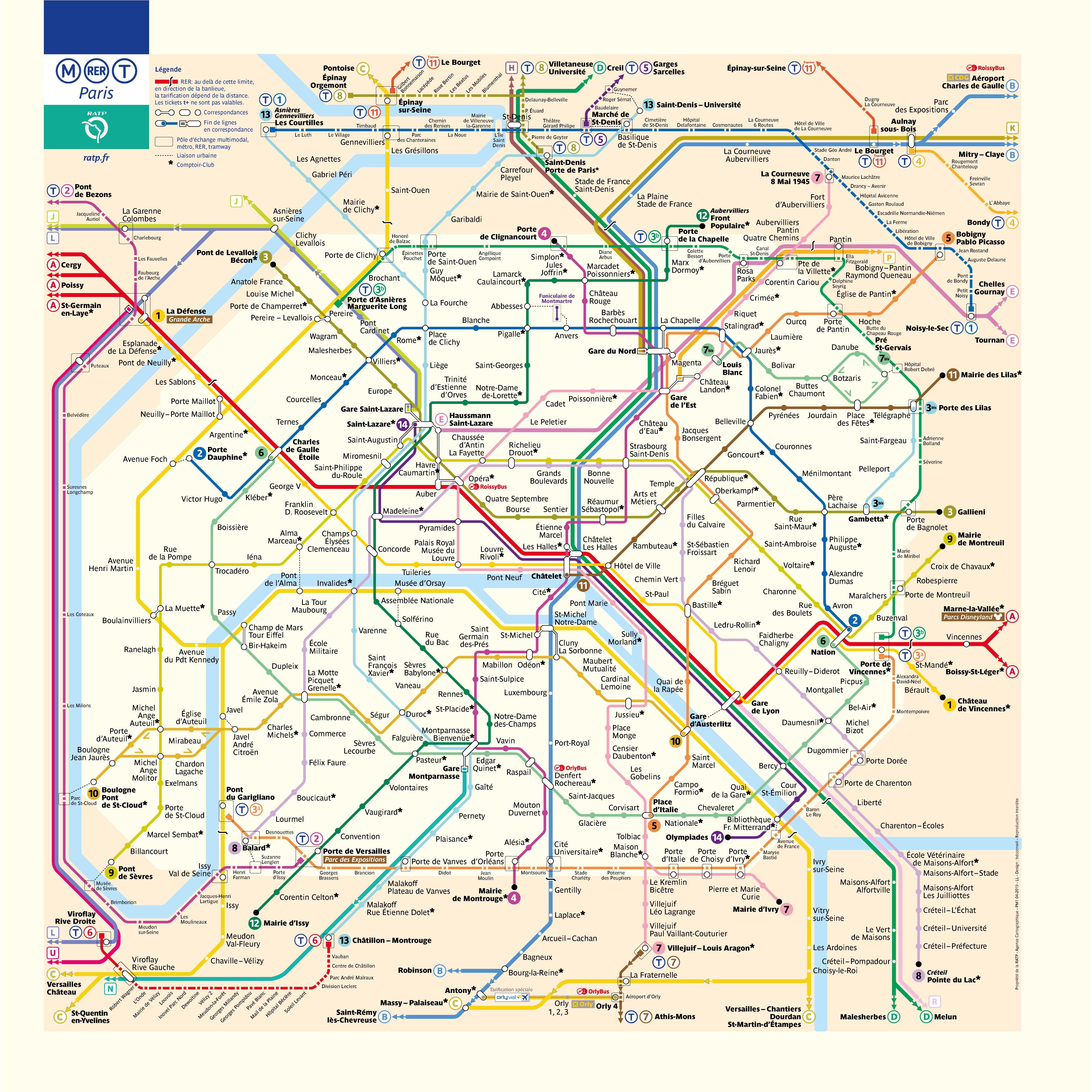 Plans Ratp Paris Metro Map Underground Map Paris Travel