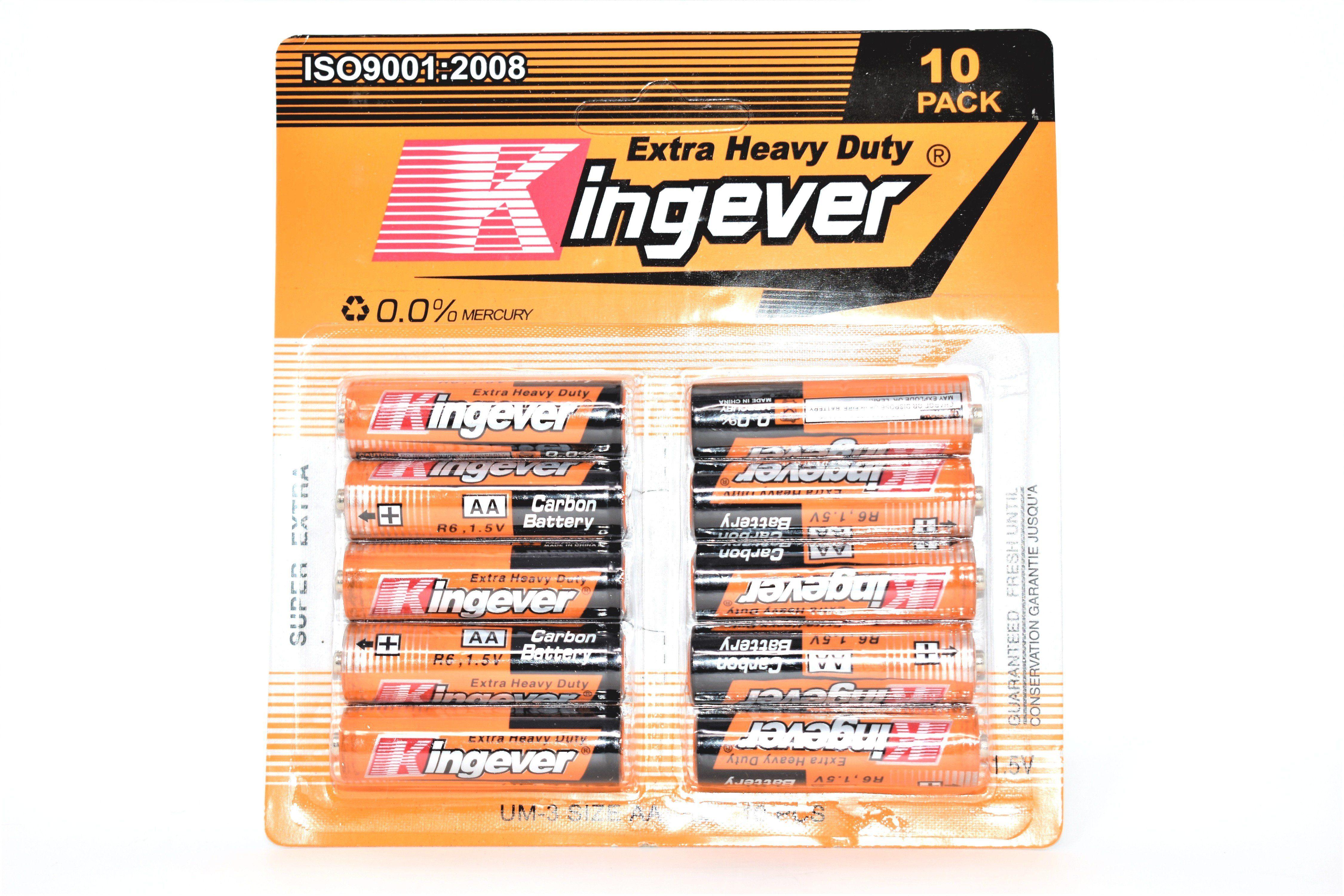 Kingever Extra Heavy Duty Aa Batteries 10 Pack Heavy Duty Heavy Batteries