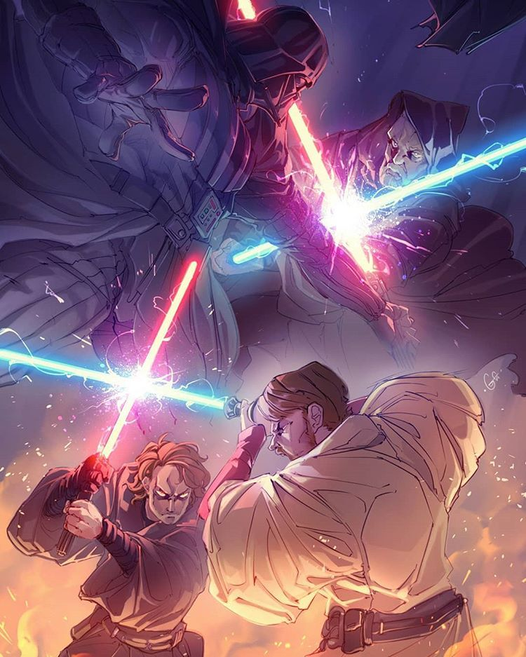 Darth Vader Vs Obi Wan Kenobi Which Duel Was Better Revenge Of The Sith Or A New Hope Tag A Friend An Star Wars Images Star Wars Pictures Star Wars Art