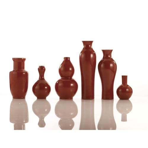 Set Of Six Assorted Persimmon Vases Tozai Home Vases Vases Home Decor