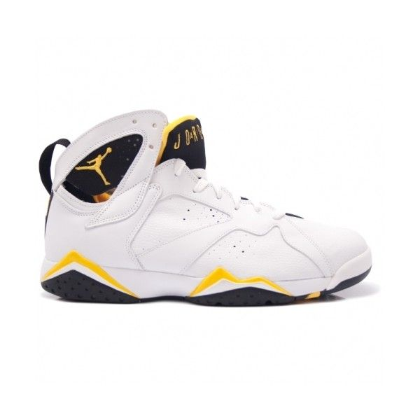 720b7f9c3c98 Air Jordan Retro 7 Women White Maize Yellow ❤ liked on Polyvore featuring  shoes