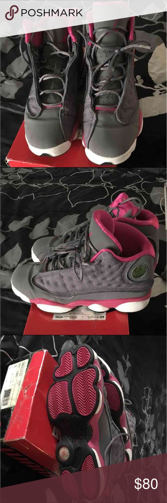 89b9c0b7ab707a Jordan 13 Retro Cool Grey Fusion Pink-White GS Nike Air Jordan XIII 13 Retro  Cool Grey Fusion Pink-White GS in used condition.