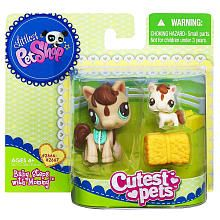 $5.99 Littlest Pet Shop Baby and Mommy Pet - Horse