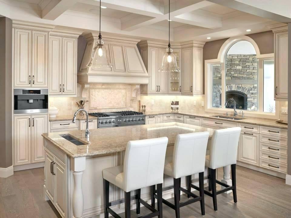 Sparkling White quartz countertop maple cabinets