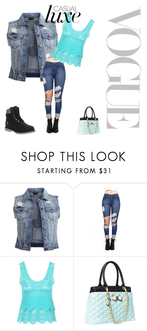 """J Style"" by stewartj1 on Polyvore featuring VILA, Jane Norman, Betsey Johnson and Timberland"