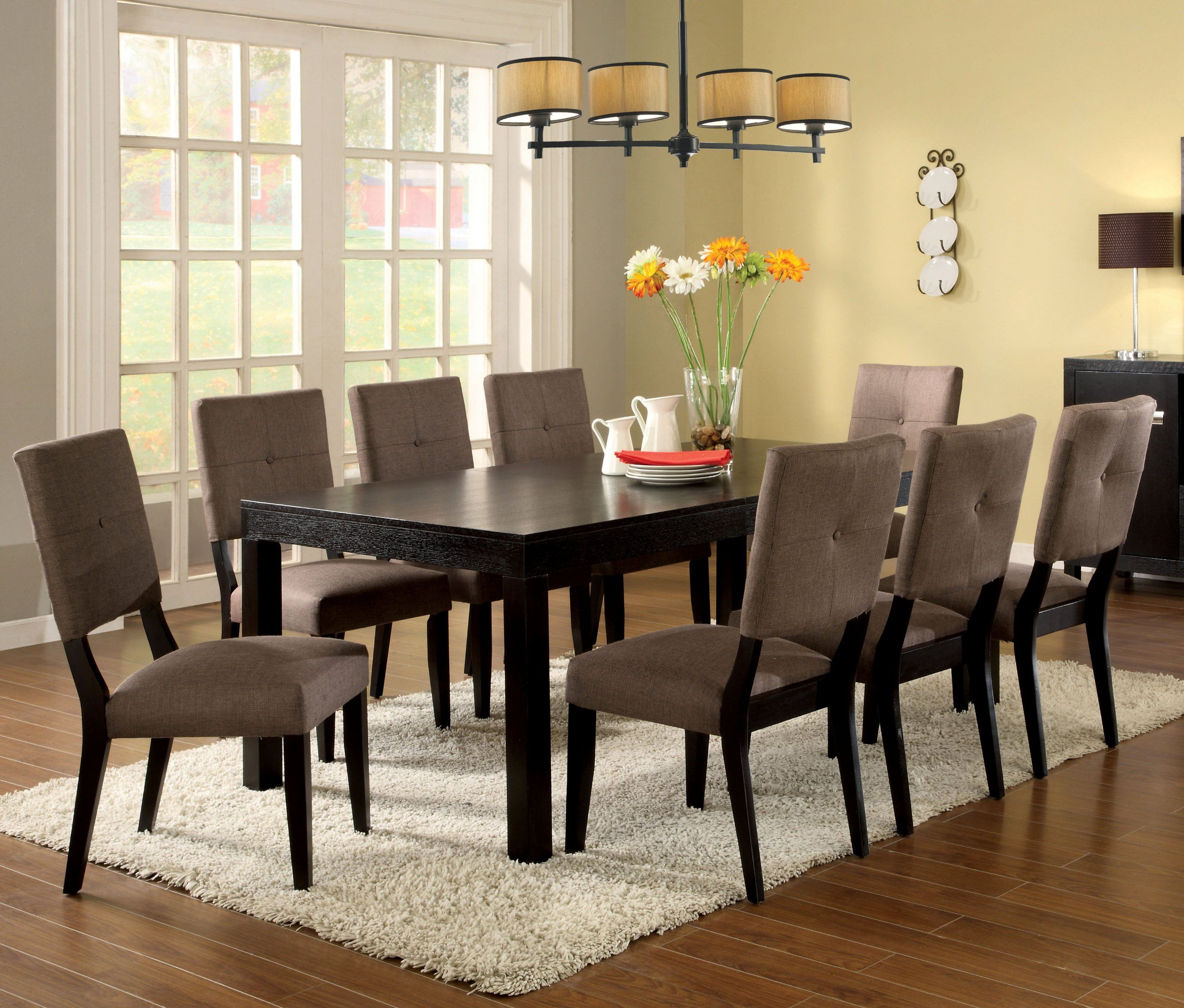 Amazon.com   Furniture Of America Rectangular Dining Table With Removable  Leaf, Espresso