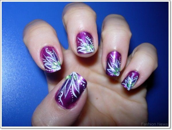 Purple nails purple nail designs and purple nail 20 cool purple nail designs prinsesfo Gallery
