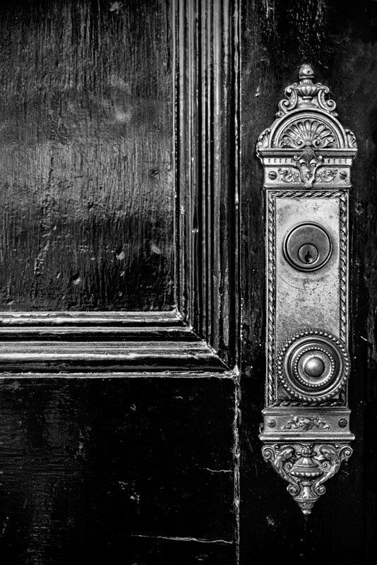Black Door with Ornate Door Knob - Vanderbilt University in Nashville & Black Door with Ornate Door Knob - Vanderbilt University in ...