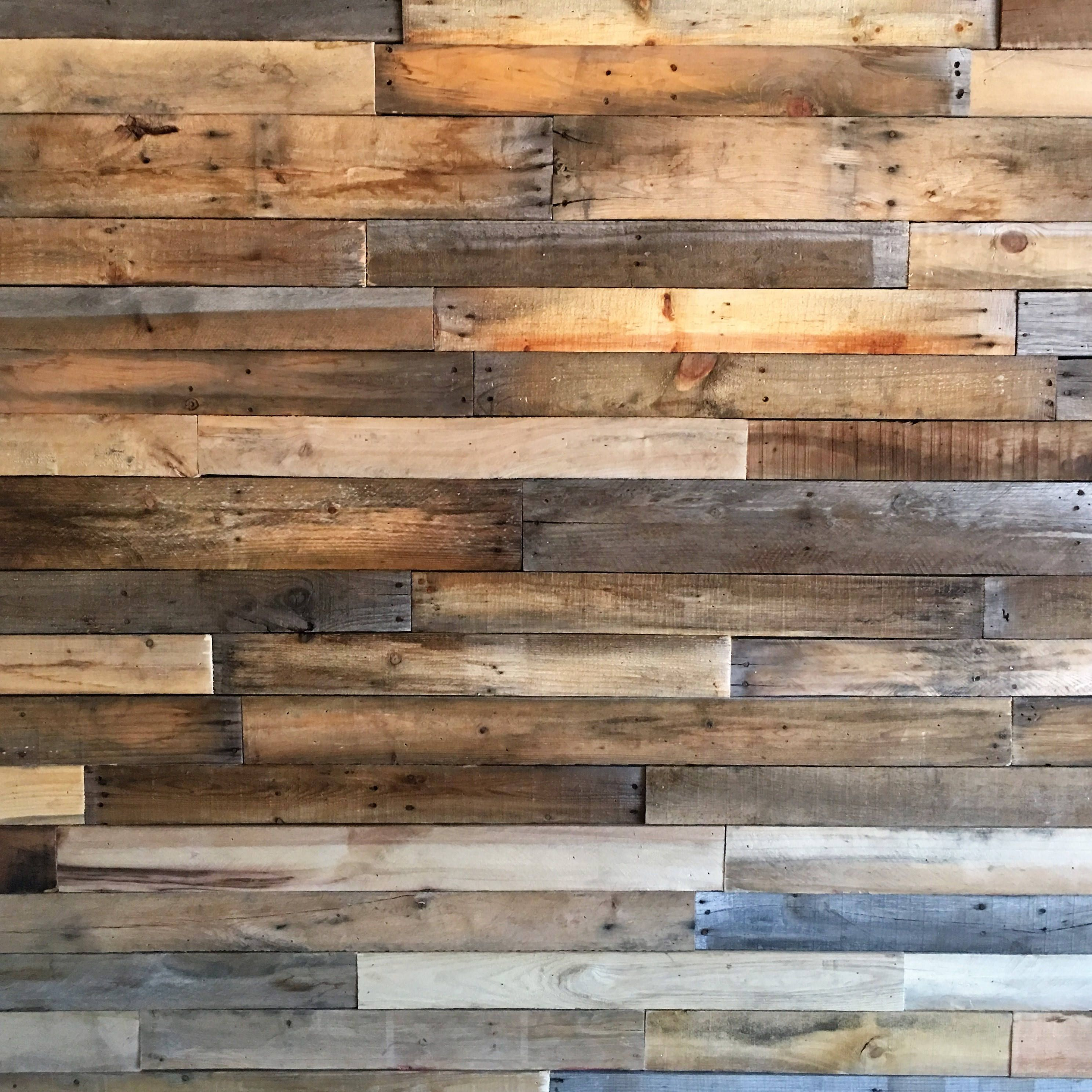 Reuse Pallet For Accent Wall Ideas: Sealed Reclaimed Pallet Wood Boards-25 SQ FT Bundle