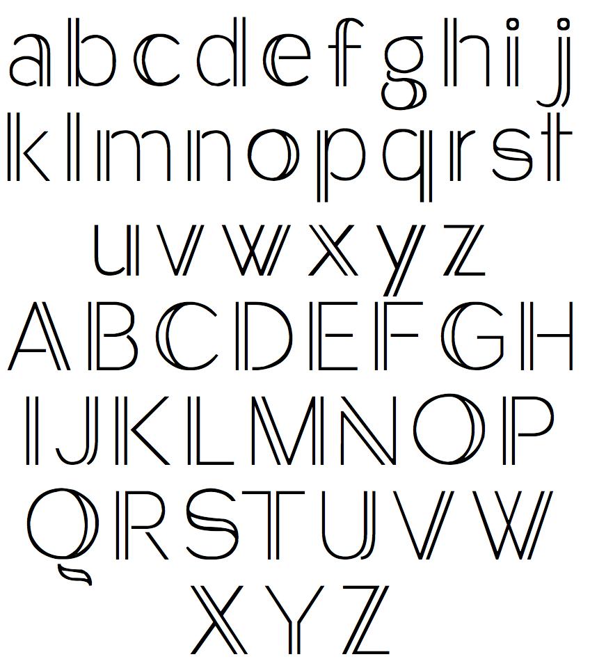 Pix For > Simple Typography Alphabet DIY/Crafts