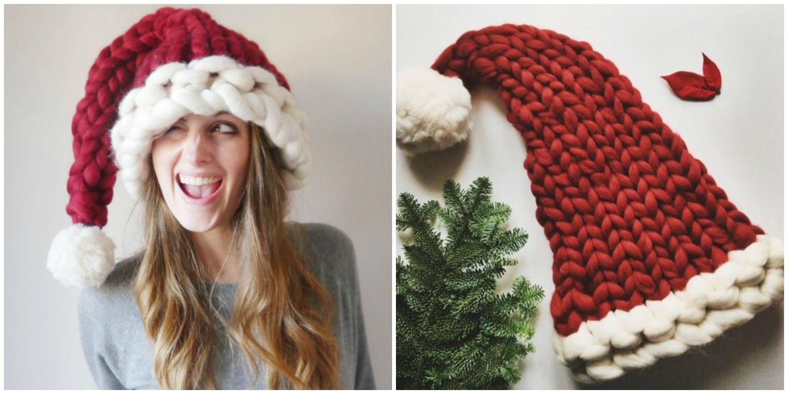 This Chunky Knit Santa Hat Will Be the Coziest Thing You Wear All ...