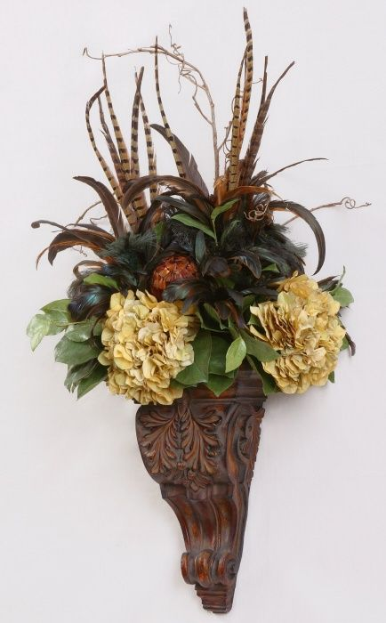 wall floral sconces | floral wall sconce | Home is ... on Pocket Wall Sconce For Flowers id=69318