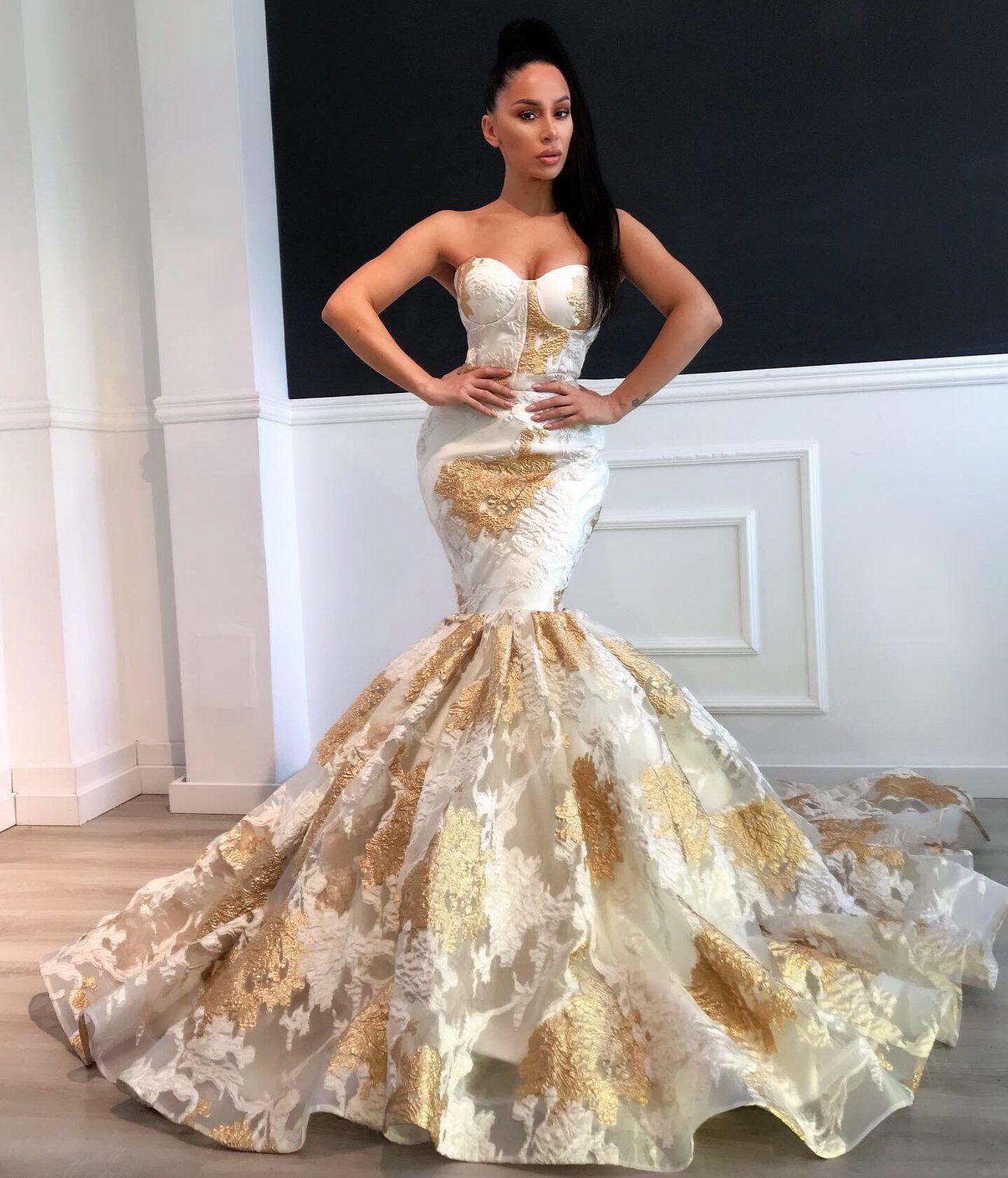 Park Art My WordPress Blog_White And Gold Prom Dress Black Girl