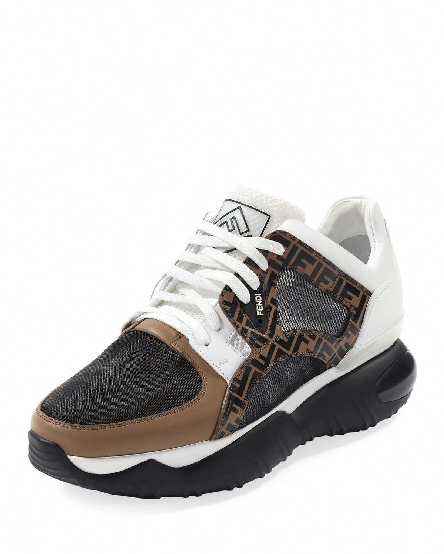 a3755736 FENDI MEN'S FANCY CHUNKY RUNNER SNEAKERS. #fendi #shoes ...