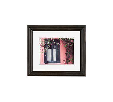 Black on Pink Framed Print by Lupen Grainne, 13 x 11\