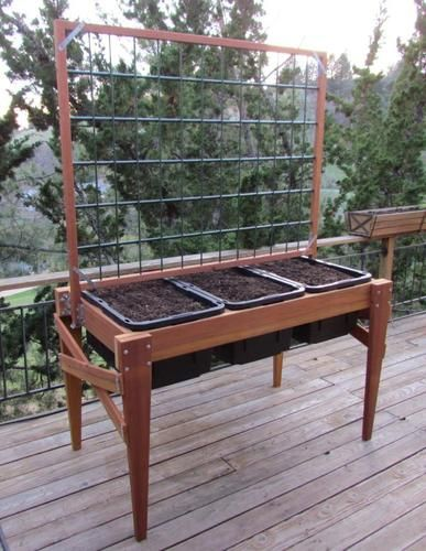 Waist High Raised Bed Garden Planter For Your Beans