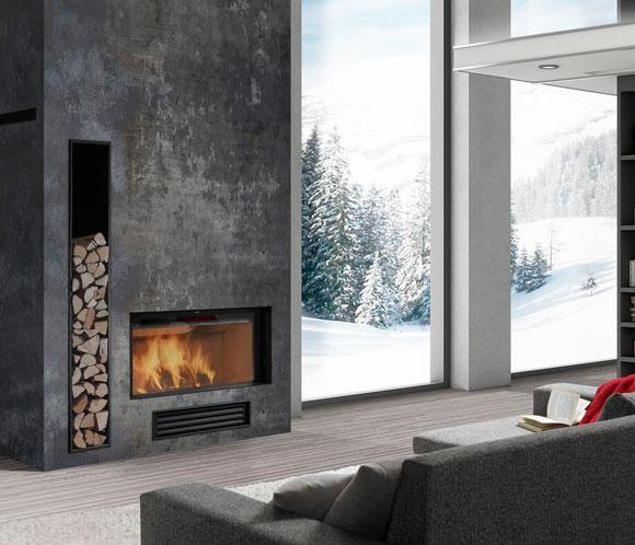 Chimeneas calor y dise o en tu hogar fuego chimeneas for Diseno de estufas hogar a lena