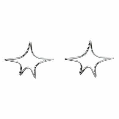 STAR STUDS SILVER - NYLONS JEWELLERY