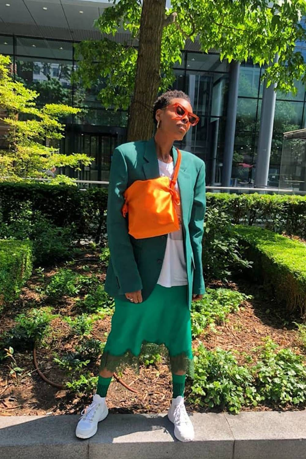 "7 Outfits to Show You Why ""Green Aesthetic"" Is Popping on"