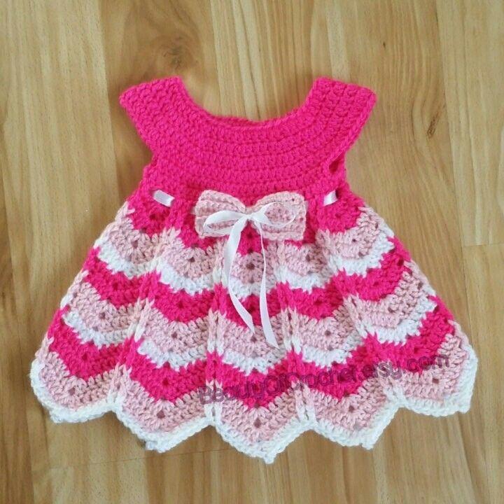 Pin de Adela Duran en vestidos para niña en crochet | Pinterest ...