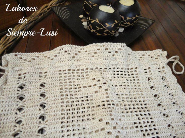 Resultado de imagen de gráficos filet crochet bolsa de pan | bolsa ...