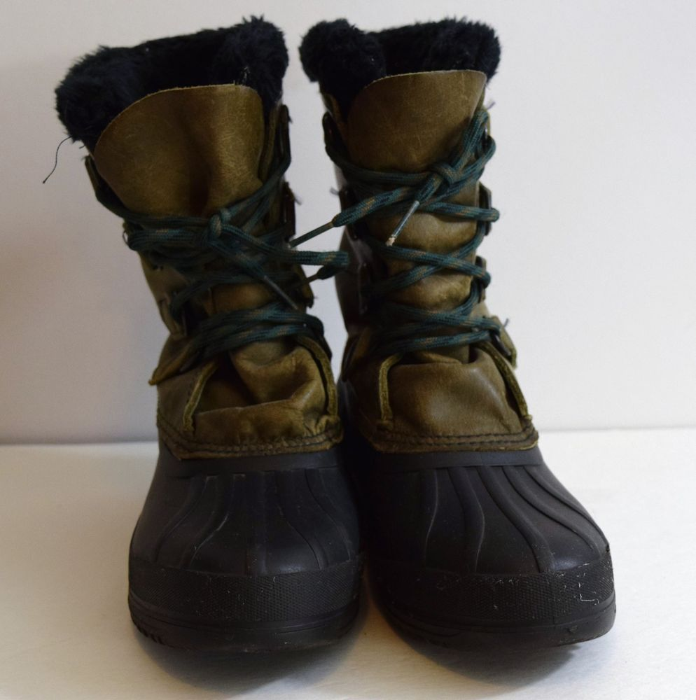 SOREL Badger Womens Leather Winter Snow Boots Made in Canada Size ...