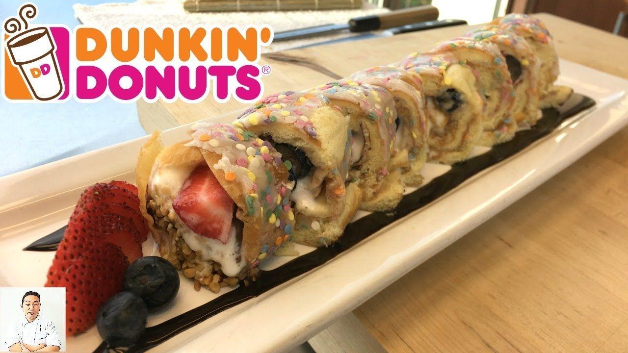 Dunkin' Donut Birthday Cake Ice Cream Sushi Roll ...