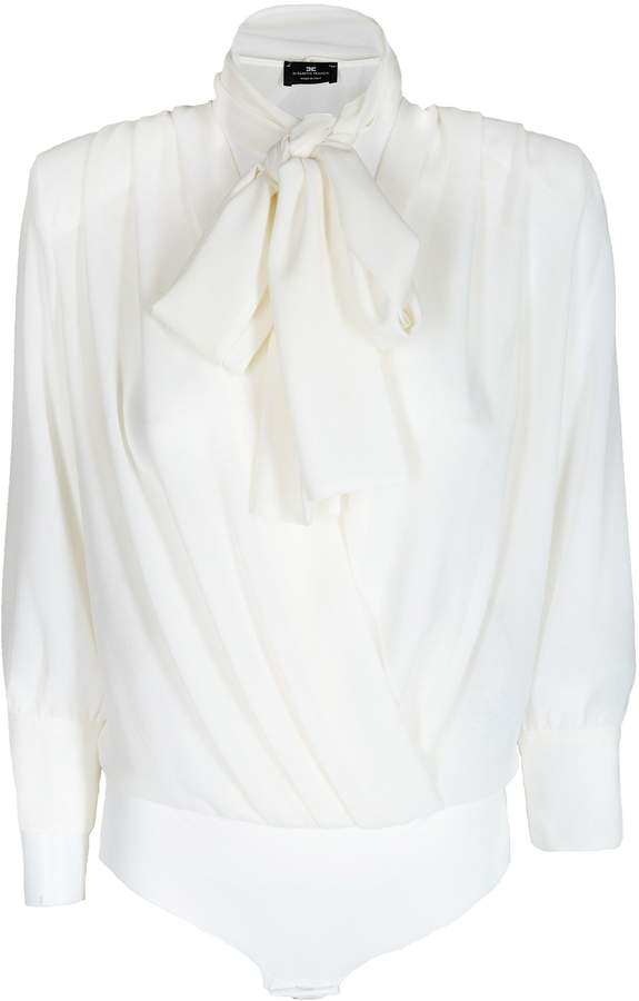781f32bd0fb Elisabetta Franchi Celyn B. Tie Neck Blouse in 2019 | Products | Tie ...