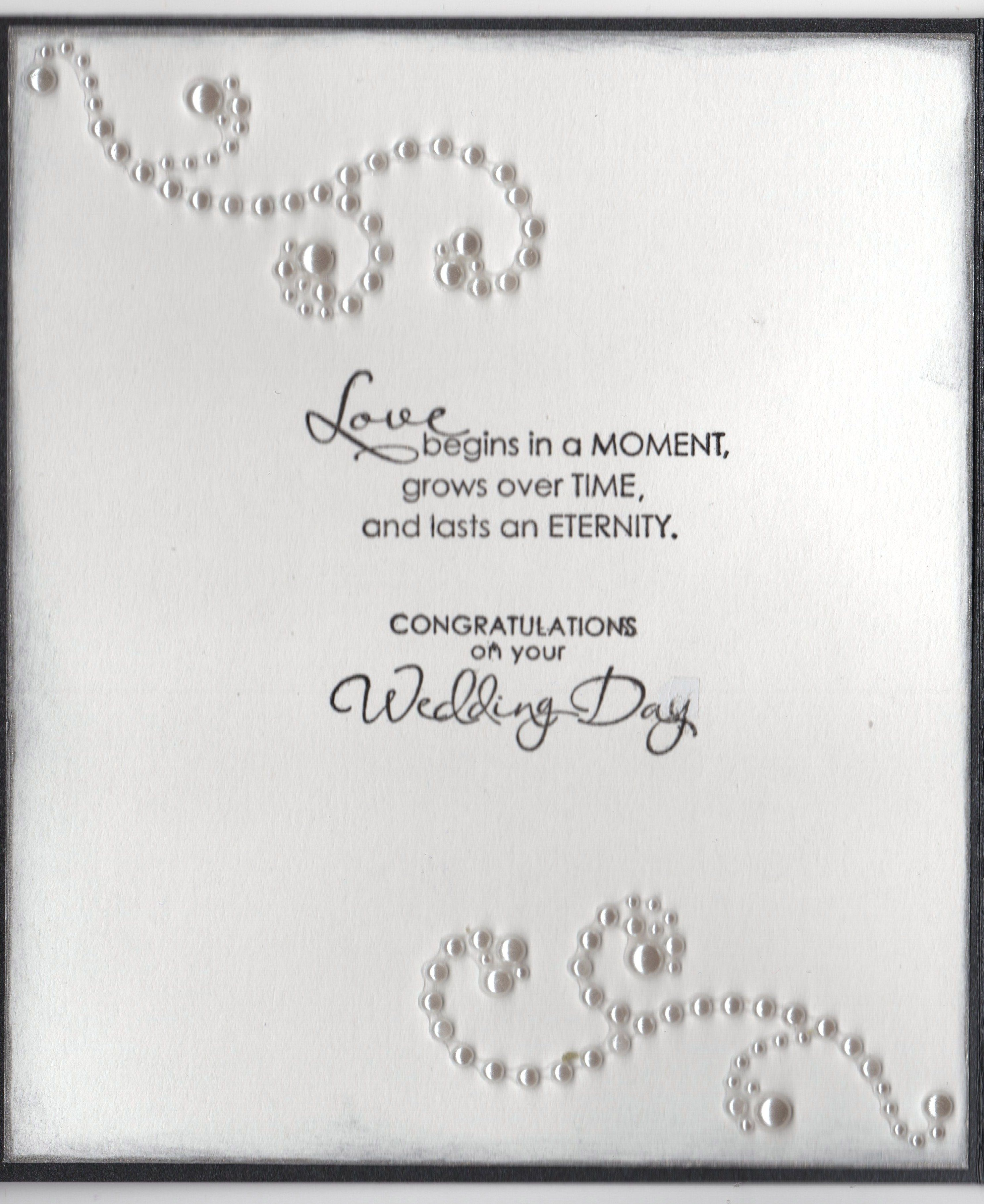 Wedding Card for an Older Couple - Inside  Marriage cards