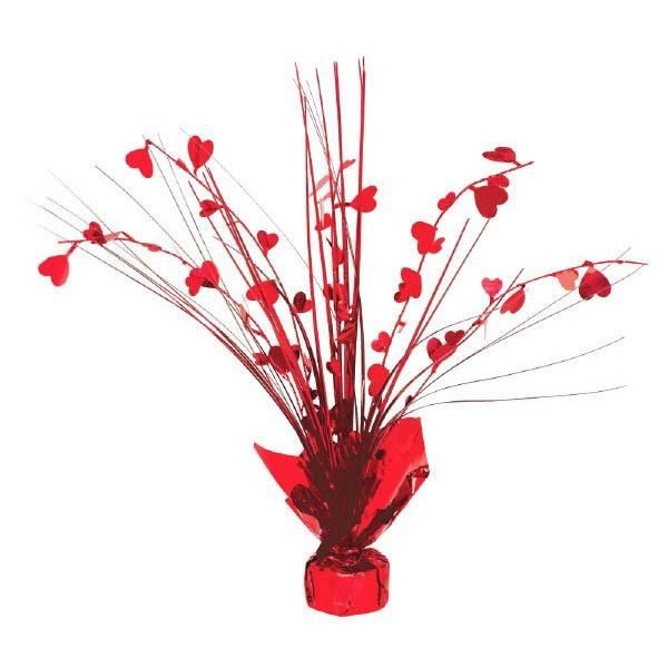 Heart Foil Spray Centerpiece 12in Centerpieces and Sprays - party city store costumes