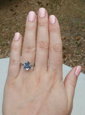 Blue Moissanite Weddingbee Boards Pear Shaped Ring Blue Diamond Engagement Ring Blue Moissanite