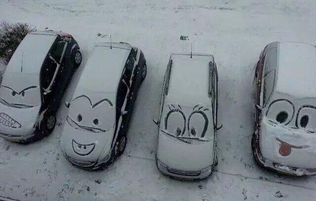 Cute snow art