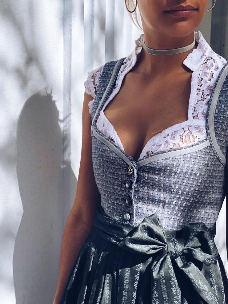 Dirndl Josephine Silver Grey