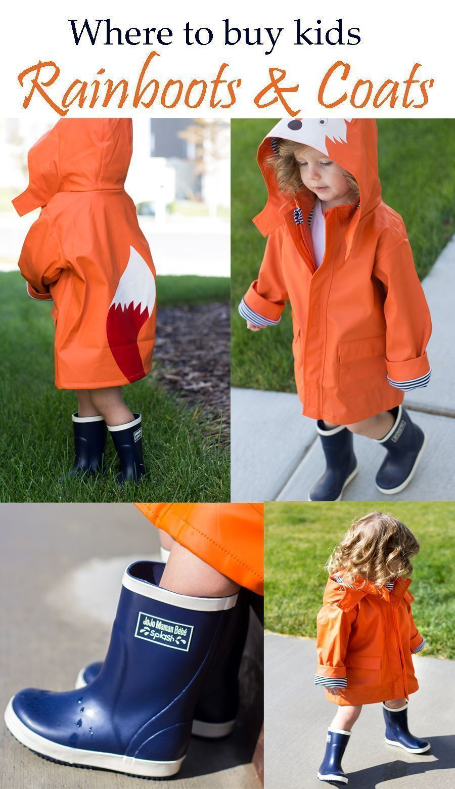 Toddler Rainboots And Raincoats Toddler Outfits Fox Outfits Fox Raincoats How To Style Raincoats Ra Raincoat Kids Cute Outfits For Kids Toddler Rain Boots