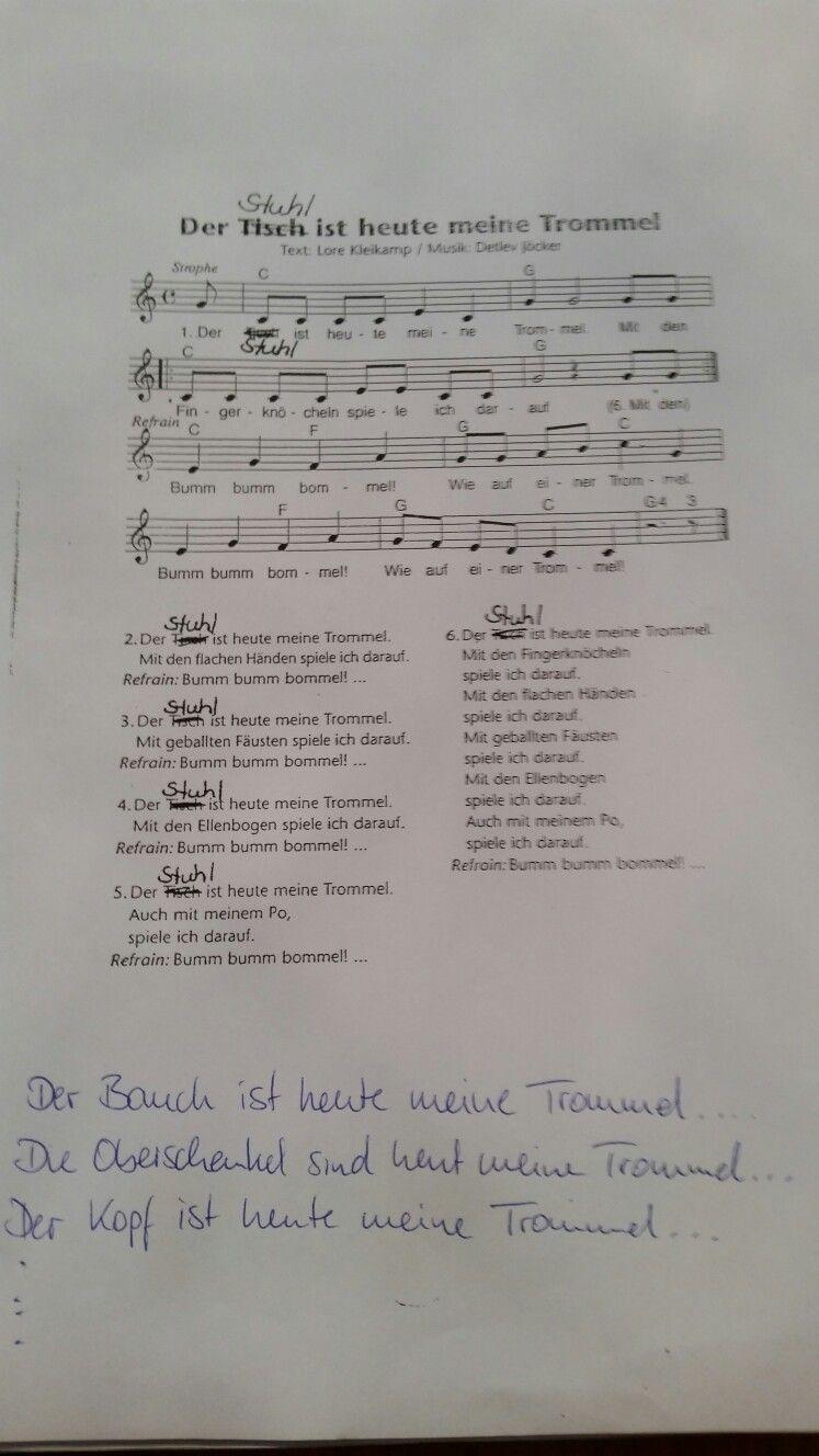 Der Tisch Ist Meine Trommel Lied Kita Kindergarten Krippe Instrumente Musik Song Singen Musikalischee Kindergarten Lieder Kinder Lied Begrussungslieder