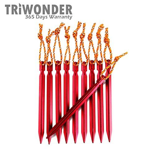 Triwonder 10 Pack Lightweight Aluminum Alloy Tent Stakes Pegs Red 7 Inches ** See this  sc 1 st  Pinterest & Triwonder 10 Pack Lightweight Aluminum Alloy Tent Stakes Pegs Red ...